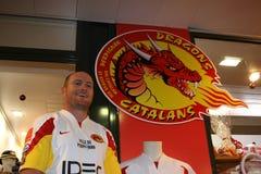 Apresentação oficial dos dragões dos Catalans Foto de Stock Royalty Free