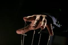 Apresentador de marionetas Foto de Stock