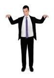 Apresentador de marionetas do homem de negócio imagens de stock royalty free