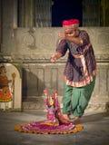 Apresentador de marionetas indiano. Fotografia de Stock