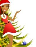 Apresentador fêmea 2 do Natal Imagem de Stock