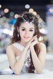Apresentador no vestido 'sexy' na 30a expo internacional do motor de Tailândia o 3 de dezembro de 2013 em Banguecoque, Tailândia Imagem de Stock Royalty Free