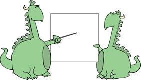 Apresentando dragões ilustração royalty free