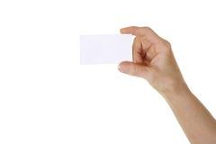 Apresentando o cartão Imagem de Stock Royalty Free