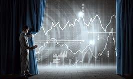 Apresentando o informe anual Imagens de Stock Royalty Free