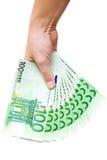 Apresentando um ventilador do dinheiro Fotografia de Stock Royalty Free