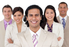 Apresentação de uma equipe alegre do negócio Imagens de Stock Royalty Free