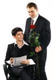 Apresente-lhe uma flor Imagens de Stock Royalty Free