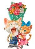 Apresente um grupo das rosas Imagens de Stock Royalty Free