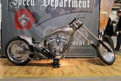 Apresse o velomotor do costume do departamento Foto de Stock Royalty Free