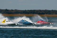 Apresse a raça de barco Foto de Stock Royalty Free
