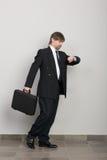 Apresuramiento del hombre de negocios Imágenes de archivo libres de regalías