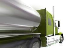 Apresurando semi el camión aislado Imagen de archivo
