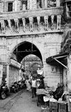 Apresurar la calle en la India Fotografía de archivo