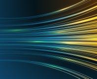 Apresure el fondo abstracto del gráfico de vector de la tecnología de las curvas azules de la luz del movimiento Imagen de archivo libre de regalías