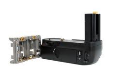 Apretón de la batería de la cámara fotografía de archivo libre de regalías