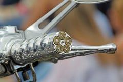 Apretón de la manija de la motocicleta de la bala foto de archivo libre de regalías
