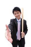 Apretón de manos asiático del hombre de negocios Fotografía de archivo