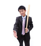 Apretón de manos asiático del hombre de negocios Fotografía de archivo libre de regalías