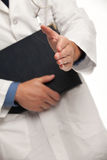 Apretón de manos con el doctor imagen de archivo libre de regalías