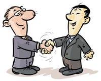 Apretón de manos de los hombres de negocios. Fotos de archivo libres de regalías