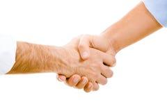 Apretón de manos de Man?s Fotos de archivo libres de regalías