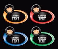 Apretón de manos del asunto en los anillos multicolores