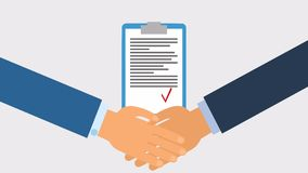 Apretón de manos del negocio para el trato y el concepto del trabajo en equipo la cooperación internacional sacudida de las manos libre illustration