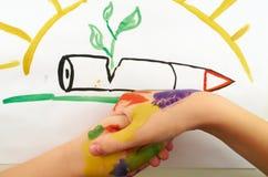 Apretón de manos del niño Fotografía de archivo libre de regalías