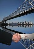 Apretón de manos en New Orleans Imágenes de archivo libres de regalías