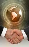 Apretón de manos global Imagen de archivo libre de regalías