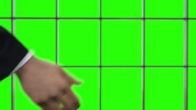 Apretón de manos internacional Reparto de asunto acertado almacen de metraje de vídeo