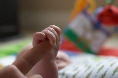 Apretón del bebé Fotografía de archivo