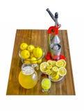 Apretón del limón Imágenes de archivo libres de regalías