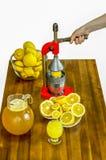 Apretón del limón Fotografía de archivo libre de regalías