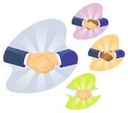 Apretón de manos de dos mangos Fotografía de archivo libre de regalías