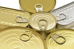Apri dell'alimento inscatolato Fotografia Stock