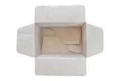 Apri della scatola di carta Fotografia Stock Libera da Diritti