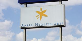 Apria Healthcare Billboard Royalty Free Stock Images