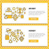 Apriary vector set website banner Stock Photo