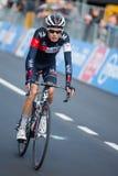 Aprica, Ιταλία 26 maggio 2015  Επαγγελματικός ποδηλάτης κατά τη διάρκεια ενός σταδίου του γύρου της Ιταλίας 2015 Στοκ φωτογραφία με δικαίωμα ελεύθερης χρήσης
