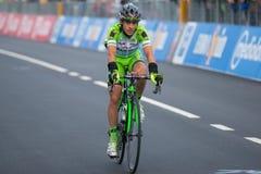 Aprica, Italia 26 maggio 2015; Fachowy cyklista podczas sceny wycieczka turysyczna Włochy 2015 Obrazy Stock