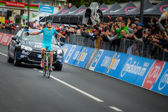 Aprica, Italia 26 maggio 2015; Mikel Landa Winner of a stage of the Tour of Italy 2015 Royalty Free Stock Image