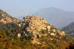 apricale χωριό της Ιταλίας Λιγυρία Στοκ Εικόνες