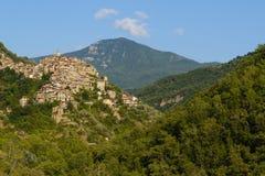 Apricale Altes Dorf von Italien Stockfotografie