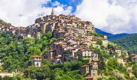 Apricale village in Liguria Stock Image