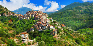 Apricale  village .Liguria, Italy Royalty Free Stock Image