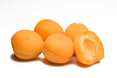 Apricot. Some apricot isolated on white Royalty Free Stock Image