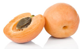 Apricot. Full focus of Apricots studio isolated on white background royalty free stock photography