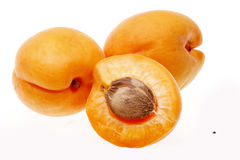 Apricot. Fresh apricot isolated on white background stock images